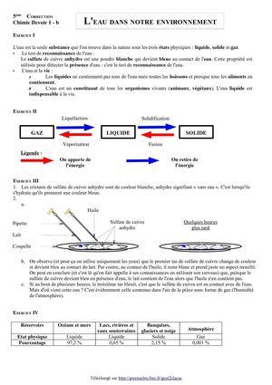correction exercice physique chimie 5eme