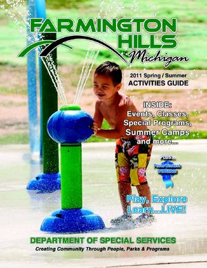 Farmington Hills 2011 Spring Summer Activity Guide