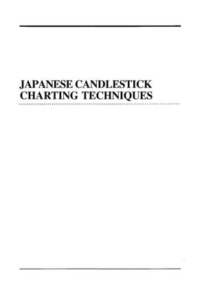 Stevie Nison - Japanese Candlestick Charting Techniques
