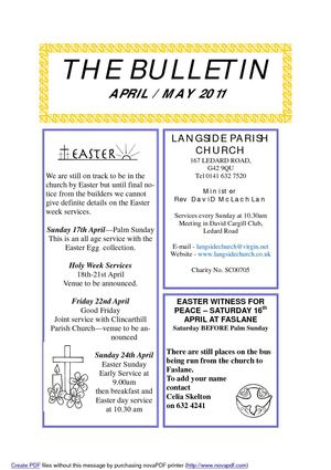 The Bulletin - April / May 2011