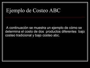 Ejemplos de costea ABC simple