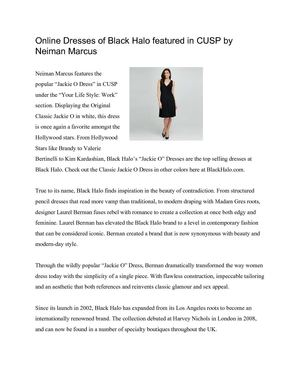 Online Dresses of Black Halo featured in CUSP by Neiman Marcus