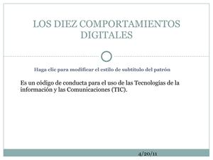 LOS 10 COMPORTAMIENTOS DIGITALES