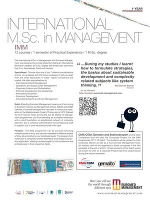 INTERNATIONAL M.SC. IN MANAGEMENT