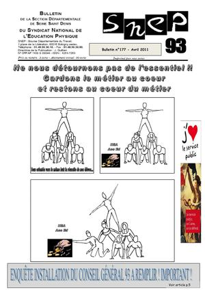 Bulletin 177 avril 2011 du SNEP93