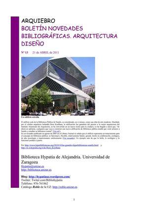 Calam O Bolet N De Novedades De Arquitectura Y Dise O De