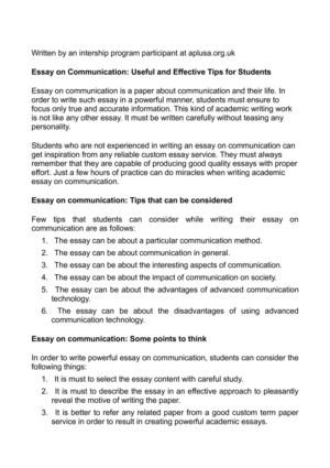 Communication interpersonal paper research
