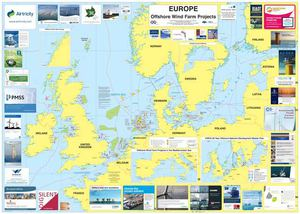 Europe Offshore Wind Farm Projects Map - 2009