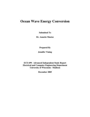 Ocean Wave Energy Conversion - UW, Madison