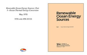 Renewable Ocean Energy Sources Ocean Thermal Energy Conversion