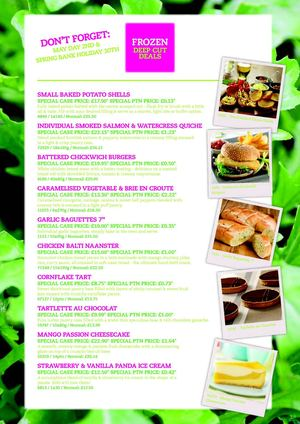 Holdsworth Foods May Promotions 2011