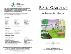NY: Western New York: Rain Garden How to Guide