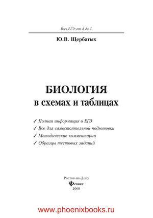 Биология в схемах и таблицах