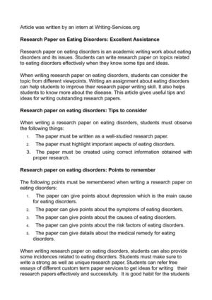 Help with research paper