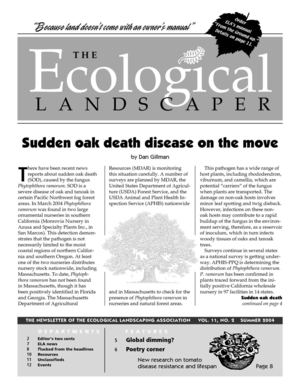 Summer 2004 The Ecological Landscaper Newsletter
