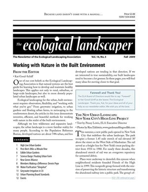 Fall 2009 The Ecological Landscaper Newsletter