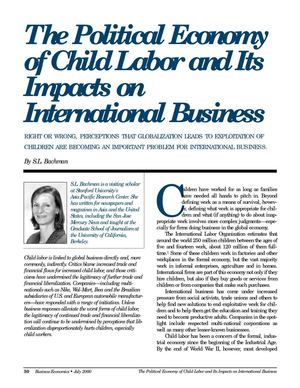 Political Econ of Ch Labor its Impacts on Internl Business - SL Bachman July 2000