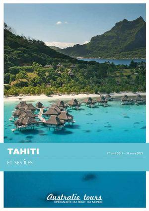 calam o brochure tahiti et ses les par australietours. Black Bedroom Furniture Sets. Home Design Ideas