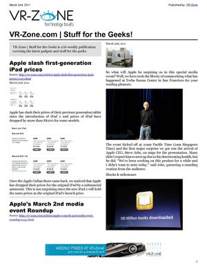 VR-Zone Technology News | Stuff for the Geeks! Mar 2011 Issue