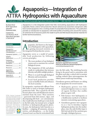 Aquaponics — Integration of Hydroponics with Aquaculture