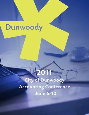 2011 Dunwoody Accounting Conference Materials - 5 Days