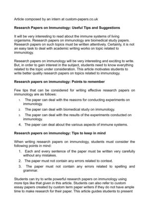 cancer topics for research papers