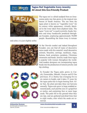 Tagua Vegetable Ivory Jewelry and Crafts
