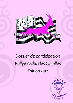 calam o les gazelles bretonnes book rallye aicha des gazelles 2012. Black Bedroom Furniture Sets. Home Design Ideas
