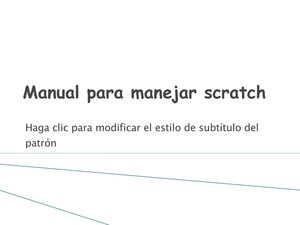 manual para manejar scratch