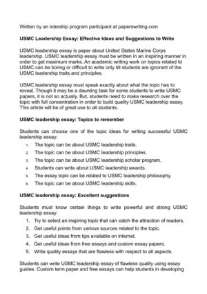 calam atilde copy o usmc leadership essay effective ideas and suggestions usmc leadership essay effective ideas and suggestions to write