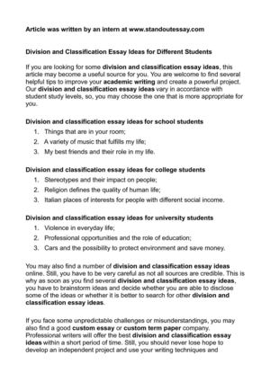 calam atilde copy o division and classification essay ideas for different division and classification essay ideas for different students