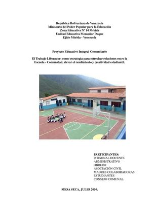 Proyecto Educativo Integral Comunitario Monseñor Duque
