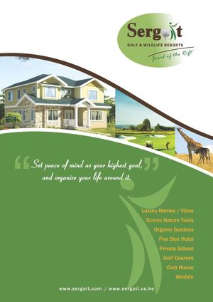 Sergoit Golf & Wildlife Resort - Brochure