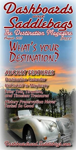 "Dashboards and Saddlebags ""The Destination Magazine"" August 2011"