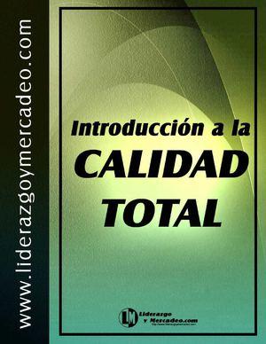 Calam o introducci n a la calidad total for Introduccion a la gastronomia pdf
