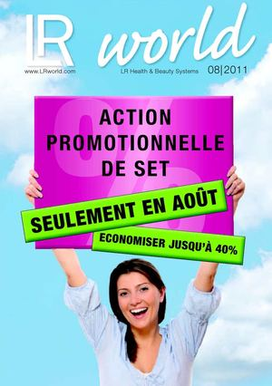 Catalogue promotionnel d'Août 2011..
