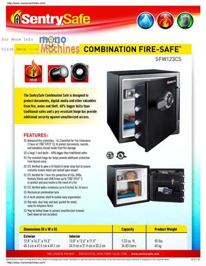 how to open a sentry fire safe without the combination