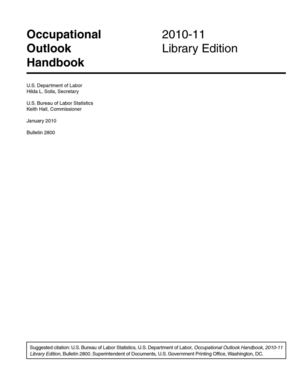 Occupational Outlook Handbook 2010-11 Library Edition