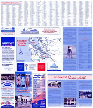 City of Campbell California Street Map