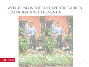 Well-Being in the Therapeutic Garden for Patients with Dementia