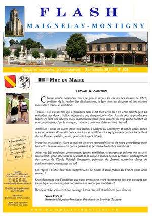 Mairie de Maignelay-Montigny - Flash n°109 Septembre 2011