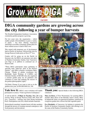 Fall 2009 Newsletter - Disabled Independent Gardeners Association
