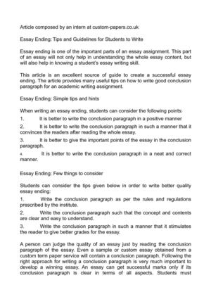 essay ending tips and guidelines for students to write essay ending tips and guidelines for students to write