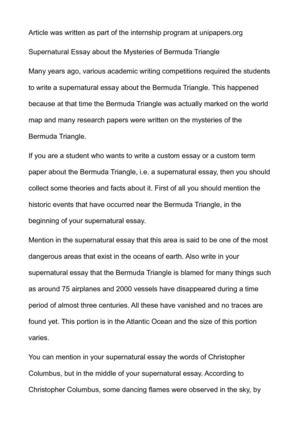 Essay Writing Triangle