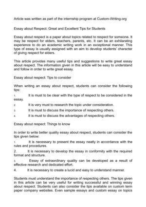 respecting authority essay Respect authority essay key stage 2 creative writing skills dodano 09042018, kategoria: bez kategorii, tagi: chillin in english class.