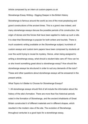 calam atilde copy o stonehenge essay writing digging deeper in the british stonehenge essay writing digging deeper in the british history
