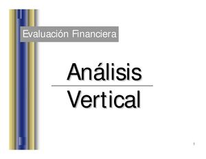 ANALISIS HORIZONTAL Y VERTICAL EN UN ESTADO FINANCIERO