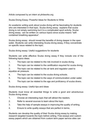 calam atilde copy o s diving essay powerful ideas for students to write s diving essay powerful ideas for students to write