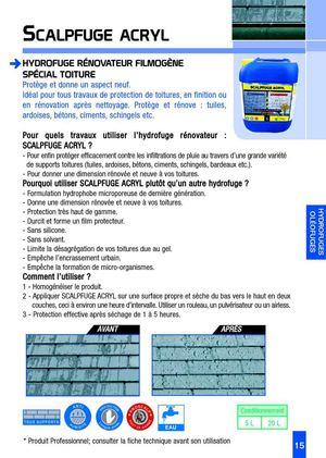 Calam o hydrofuge toiture for Hydrofuge toiture