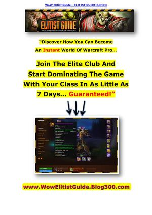WoW Elitist Guide - ELITIST GUIDE Review